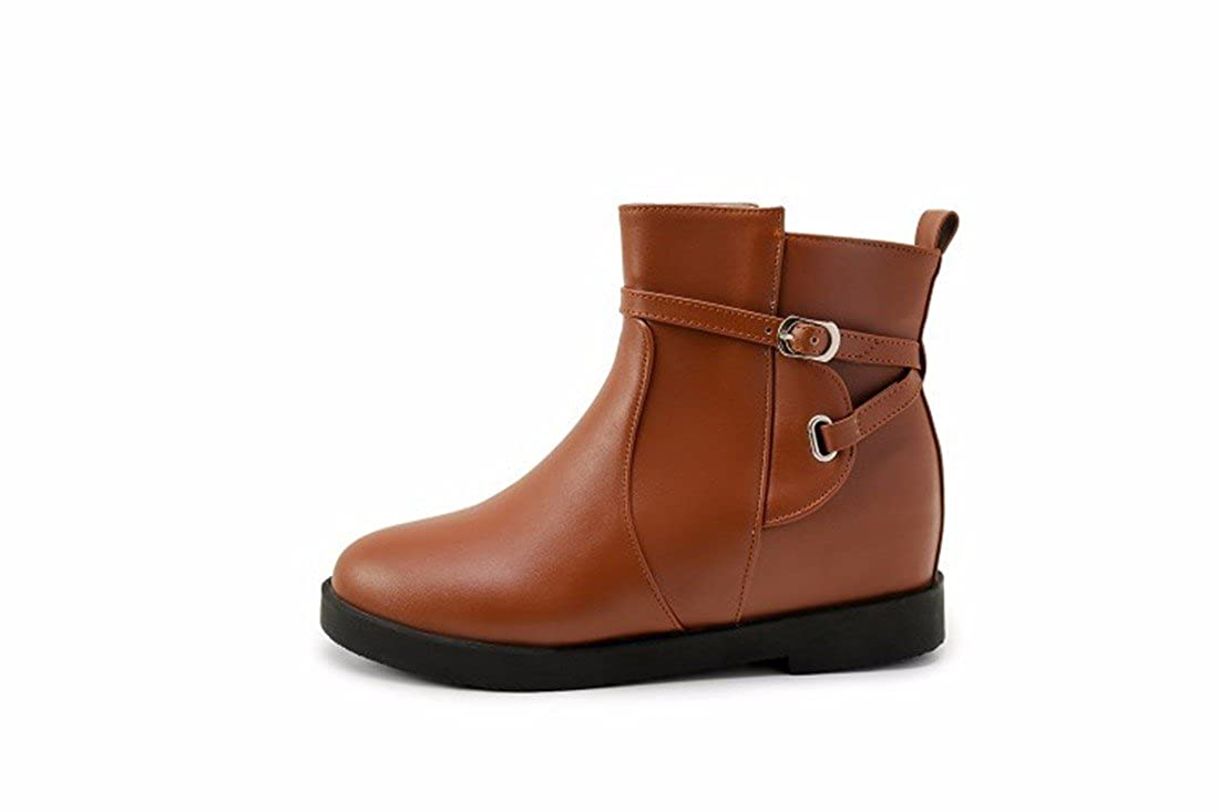 Herbst und Winter Winter Winter Gürtelschnalle Martin Stiefel weiblichen erhöhen kurze Stiefel große Werften 48bef0