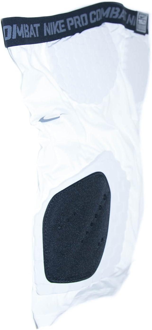 ナイキメンズフットボールパンツPro Combatスポーツ圧縮ショートパンツ ホワイトブラック 4L