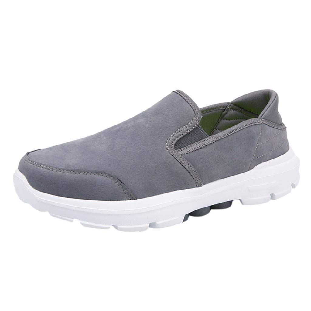 WILLTOO  Summer Men Shoes !! Men Shoes Outdoor Casual Canvas Shoes Comfortable Sport Shoes Gray