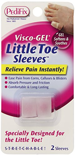 PediFix Visco-gel Little Toe Sleeves, 2-Count (Pack of - Visco Cap Toe Pedifix Gel