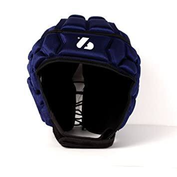 Barnett Heat Pro - Casco de rugby, color azul, color azul marino - azul