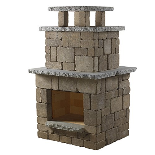 Necessories Santa FE Compact Fireplace (Brick Backyard Patio Ideas)