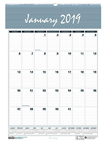 House of Doolittle 2019 Monthly Wall Calendar, Bar Harbor, 12 x 17 Inches, January - December, (HOD332-19)