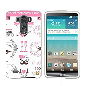 Beyond Cell ??For LG G3 (D850/VS985/D851/LS990) (T-mobile,AT&T,Sprint,Verizon,International)Beyond Cell ??Premium Protection Slim Light Weight 2 piece Snap On Non-Slip Matte Hard Shell Rubber Coated Rubberized Phone Case Cover With Design - Just A Kiss Design - Retail Packaging