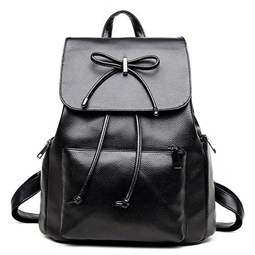 Travel College Black Pu Girls Women Bag Purse Casual Mini Shoulder Work Backpack 71I1AP