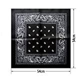 Olive Tayl 1 pc Newest Cotton Blend Hip-hop Bandanas For Male Female Head Scarf Scarves Wristband hot selling Black