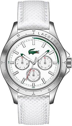 Lacoste Mackay Multifunction White Leather Strap Women's watch #2000846