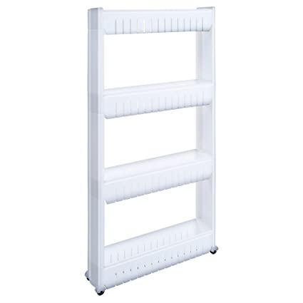 Amazon.com: 1208S Slim Rolling Cart Slide Out Storage Tower Narrow ...
