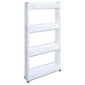 1208S Storage Cabinet Organizer Rolling Pull Out Cart Rack Tower With 4  Wheels Solutions For Narrow