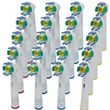 Compatible Electric Tooth brush Heads for Braun Oral-B 3D WHITE PRO BRIGHT (20 pcs)