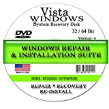 NEW WINDOWS VISTA * 2018 * ANY Version of 32 Bit and 64 Bit Home Basic, Home Premium, Professional, or Ultimate, Repair, Recovery, Restore, Re Install, Reinstall, Re-install & Reboot Fix Boot Disk DVD