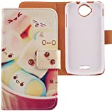 Lankashi Housse Case Cuir Cover Flip Etui Coque Protection Skin pour Wiko Cink Peax 2 Lovely Design