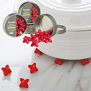 32 Piece Tovolo Red Silicone Tumble Trivets Set For Kitchen Pans Hot Pots Space Saver 80-8775