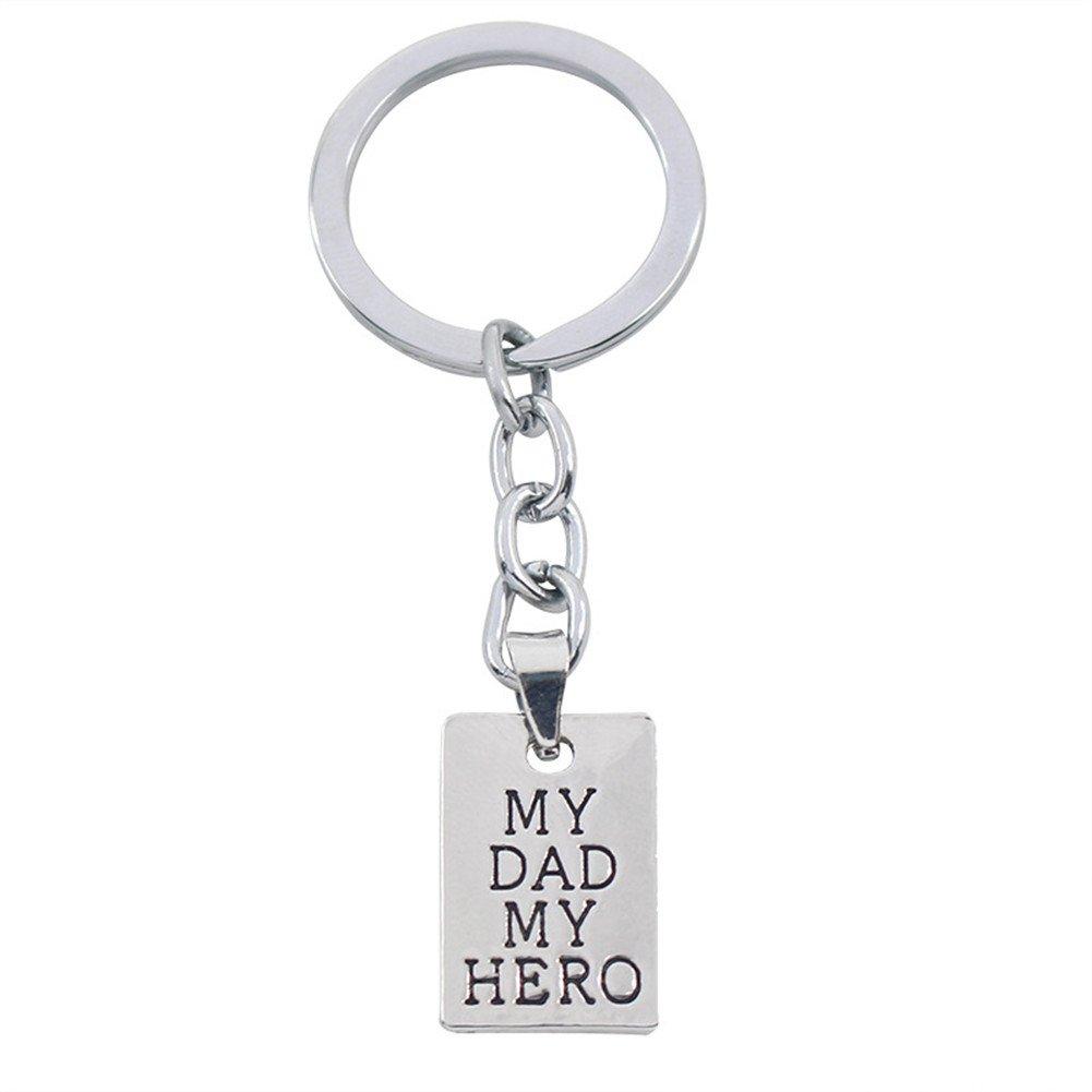 Amazon.com: Regalos del día de padre mi papá My Hero llavero ...