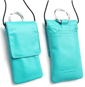 Genuine Krusell Edge Case In Turquoise Soft Leather With Flap Suitable For Blackberry Q10