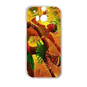 VOV Creative Joyful Leaves Men Custom Protective Hard Phone Cae For HTC One M8