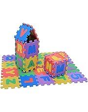 Kinderpuzzel Oefening Speelmat EVA-schuim in elkaar grijpende tegels 36-delig Cijfers en letters Baby spelen Kruipende pad Speelgoed