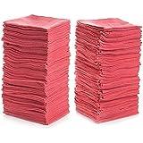"""Simpli-Magic 78966-100PK Shop Towels 14""""x12"""", Red, 100 Pack"""