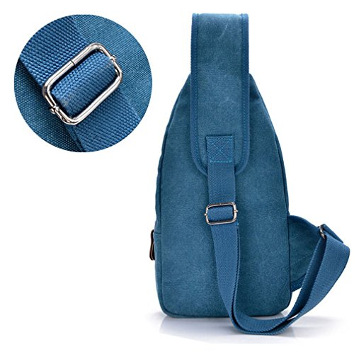 Chest Cross Blue Sling Back Travel Shoulder Men Coffee Messenger Canvas Pack Hiking Body Bag v6FpBq
