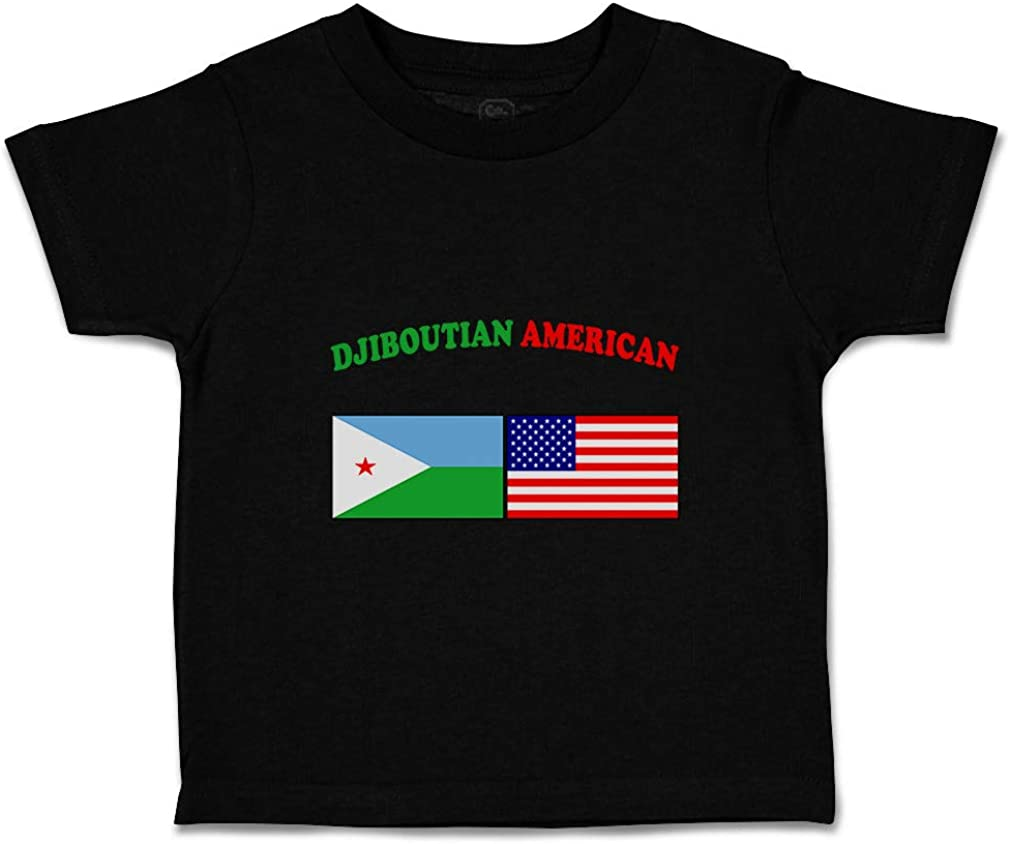 Custom Baby /& Toddler T-Shirt Djiboutian American Cotton Boy Girl Clothes