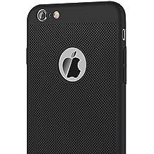 iPhone 6/6S Plus Case, GOOWZ Heat Dissipation Design Ultra Thin Anti-Scratch Anti-fingerprint Premium PC Protective Back Case for iPhone 6/6S Plus 5.5 Inch-Black