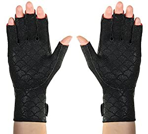 Thermoskin Premium Arthritic Gloves Pair, Black, Medium