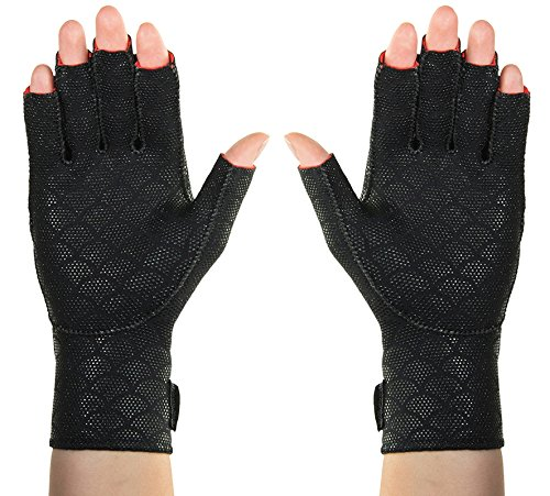 Thermoskin Premium Arthritic Gloves Pair, Black, (Thermoskin Carpal Tunnel Glove)