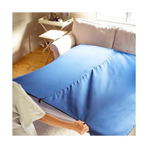 512YUwz5zAL Miqio® 2in1 Hüttenschlafsack mit durchgängigem Reißverschluss (Links oder rechts): Leichter Komfort Reiseschlafsack und…