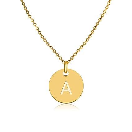 d6bd355be1bd Good.Designs Collar de Iniciales con Letras en Oro