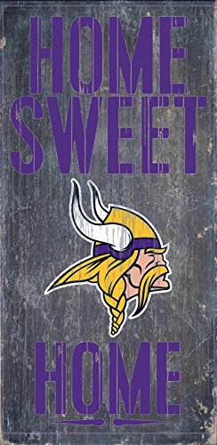 Minnesota Vikings Wood Sign - Home Sweet Home - Minnesota In Mall Outlet