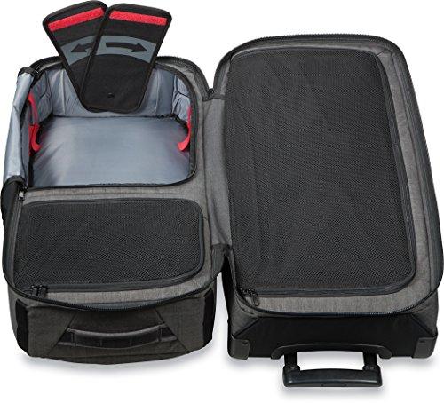 Dakine 10000784  - Unisex Split Roller Luggage Bag - Durable Construction - Split-Wing Collapsible Brace Level - Exterior Quick Access Pockets (Carbon, 85L) by Dakine (Image #6)