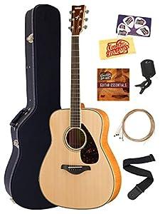 Yamaha FG820 Solid Top Folk Acoustic Guitar Bundles with Hard Case by Yamaha