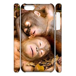 Monkey 3D-Printed ZLB822381 Unique Design 3D Phone Case for Iphone 5C