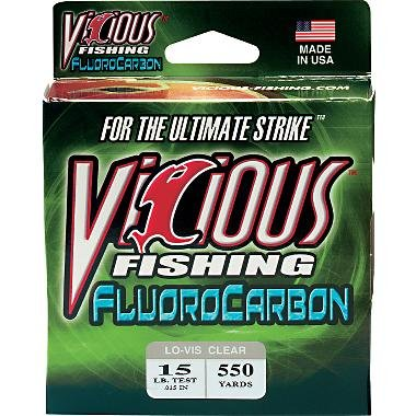 Vicious 550 Yard Fluorocarbon Fishing Line from Vicious Fishing