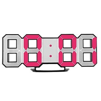 Alessioy Reloj Despertador Electrónico Reloj Digital Digital con Estilo único Mesa De Escritorio Moderna Led Digital