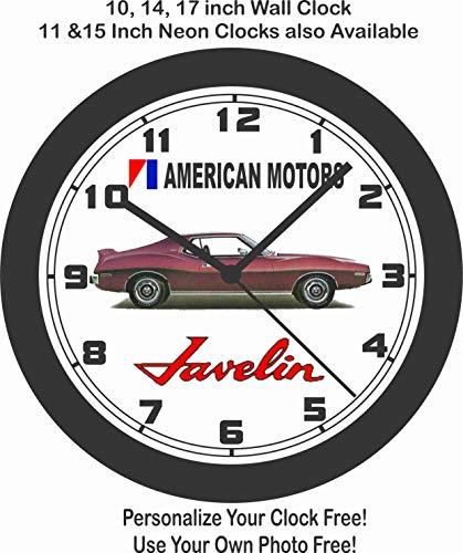 1970 American Motors Mark Donahue Edition Javelin Wall Clock-Free USA Ship-AMC-Ford ()