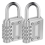 Combination Lock AIHYTU Resettable 4 Digit Weatherproof and Heavy Duty Combination Padlock Outdoor for School, Gym, Sports Locker, Employee Locker, Toolbox, Garden Gate, Suitcase, Hasp Storage, 2 Pack