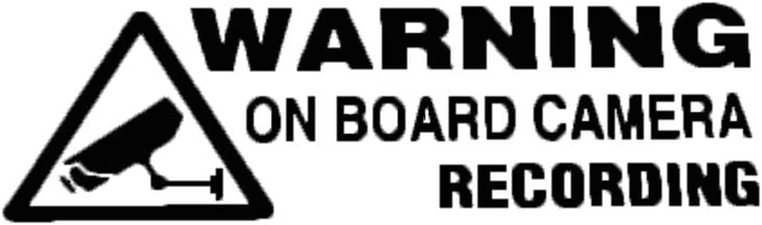 Warning On Board Camera Recording Car Window Bumper Vinyl Sticker Decal