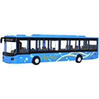 Bus Model Alloy Metal Engineering Pull Back Vehicle Mini Car Kids Toys Gift for Toddlers Kids Boys Girls Gift Children Toddlers - Blue
