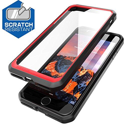 iPhone 7 (4.7) (2016) Hülle, SUPCASE Unicorn Beetle Premium Case / transparente Schutzhülle (Frost/rot)