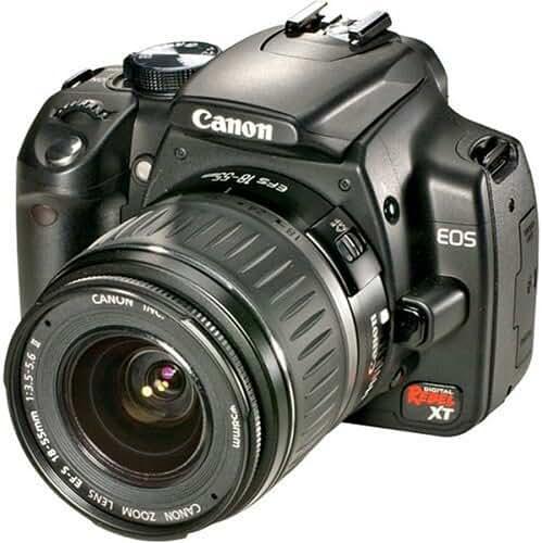 Canon Digital Rebel XT DSLR Camera with EF-S 18-55mm f3.5-5.6 Lens (Black) (OLD MODEL)