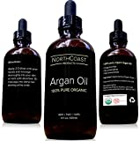 Virgin Argan Oil - 100% Pure Argan Oil For Hair, Skin, Face, & Nails. Cold-pressed, USDA/Eco-certified Organic. Highest Quality Moroccan Oil - Satisfaction Guaranteed! (1oz)