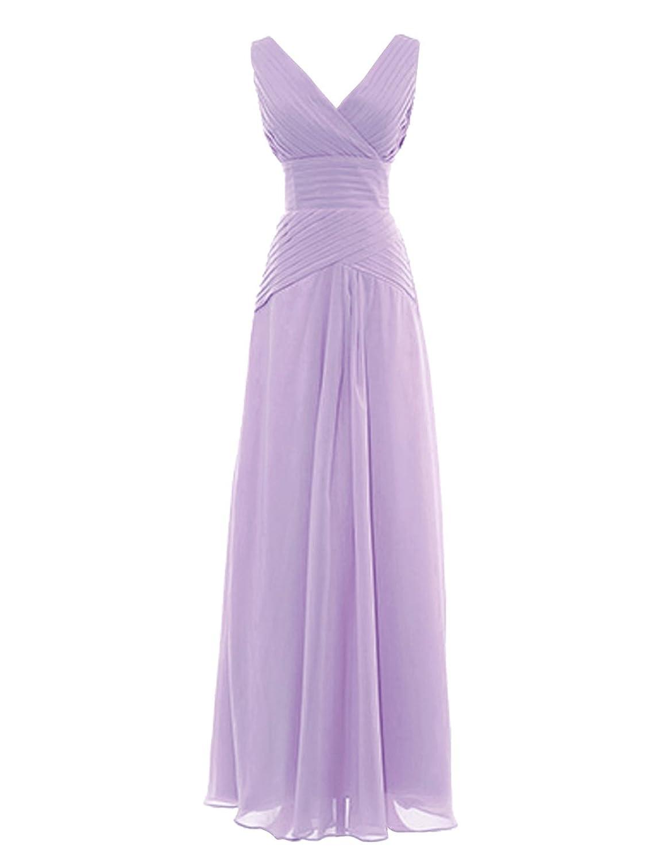 Dresstells Damenmode Chiffon Lang Brautjungfernkleider Abendkleider ...