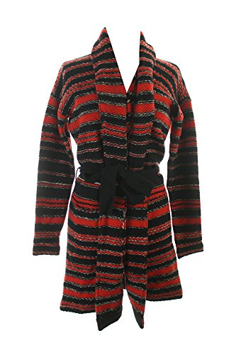 Lauren Jeans Co. Red Black Striped Wool Cardigan Sweater - Jeans Lauren Ralph Co Polo