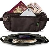 CampTeck RFID Hidden Money Belt Travel Pouch Wallet for Cash, Passport, Debit & Credit Cards, Smartphone etc – Black