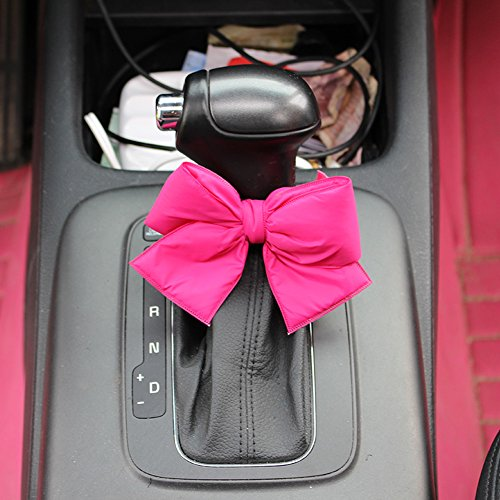 2pcs Charming Hot Pink Bowknot For Car Interior Decoration