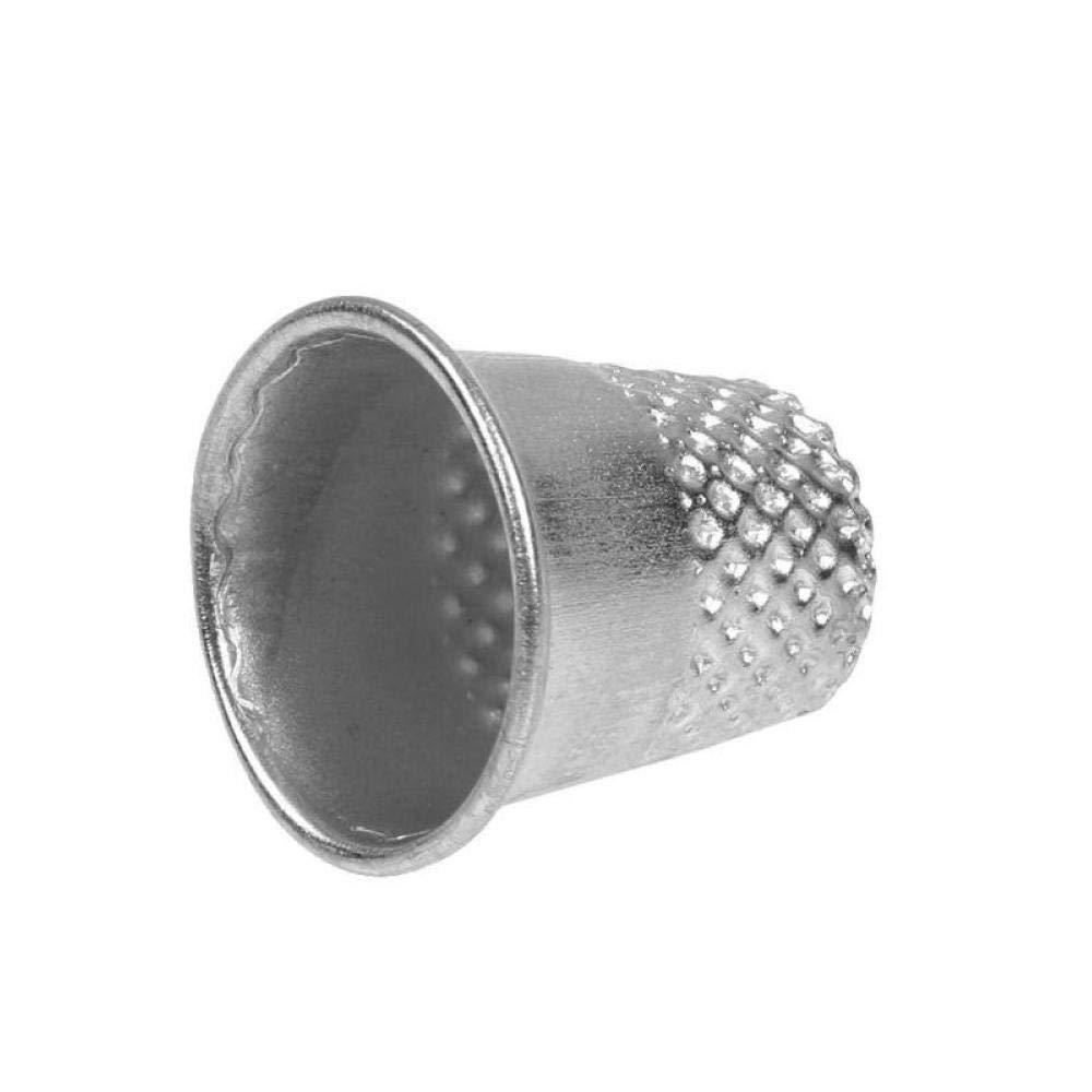 Accesorios De Decisiones Bongles Dedales De Costura 10pcs Dedo del Metal Protectores Pin De La Vendimia De La Aguja Shields por Arte De DIY La Costura De Plata