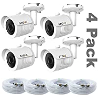 Lot of 4 Samsung Compatible Security Camera Replacement for SDC-7340BC, New with Cable, by STOiC