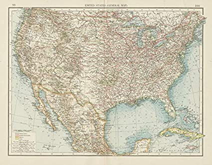 Indian Reservations In Usa Map.Amazon Com United States Showing Railways Forts Indian