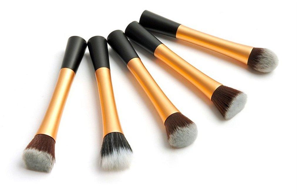Holzsammlung 5 PCS professionale Pro Pennelli trucco insieme di spazzola cosmetico compone le spazzole di fusione Concealer dell'ombretto del sopracciglio Fondazione ombra polvere Cosmetici corredo di attrezzi #8